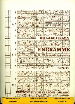 Engramme - Roland Kayn - Partition - Grand format - laflutedepan.com