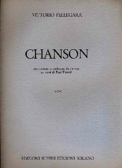 Chanson - Vittorio Fellegara - Partition - laflutedepan.com