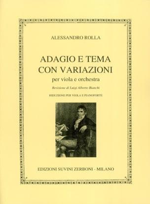 Adagio e tema con variazioni Alessandro Rolla Partition laflutedepan