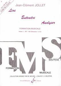 Jean-Clément Jollet - Lire Entendre Analyser – Volume 1 - Elève (Im1 Im2) - Partition - di-arezzo.fr