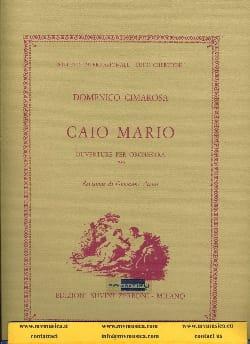Caio Mario Ouverture CIMAROSA Partition Grand format - laflutedepan