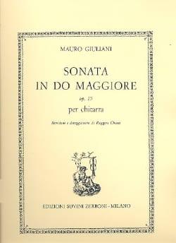 Mauro Giuliani - Sonata in do maggiore op. 15 - Partition - di-arezzo.fr
