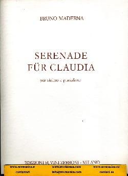 Serenade für Claudia - Bruno Maderna - Partition - laflutedepan.com