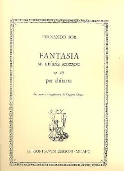 Fantasia Op. 40 Su Un'aria Scozzese - SOR - laflutedepan.com
