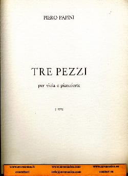 3 Pezzi - Piero Papini - Partition - Alto - laflutedepan.com