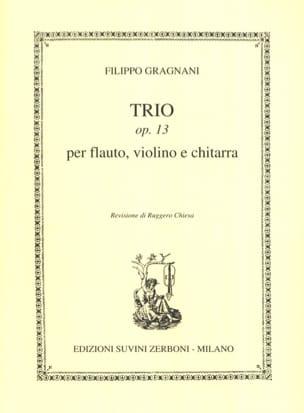 Trio Opus 13 - Filippo Gragnani - Partition - Trios - laflutedepan.com