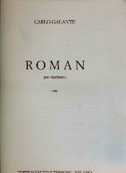 Carlo Galante - Roman –per clarinetto - Partition - di-arezzo.fr