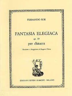 Fernando Sor - Fantasia elegiaca op. 59 - Partition - di-arezzo.fr