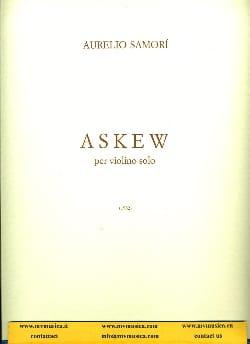 Aurelio Samori - Askew - Sheet Music - di-arezzo.com