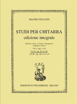 Mauro Giuliani - Studi per Chitarra, Vol 2 - Partition - di-arezzo.fr