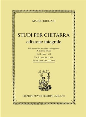 Mauro Giuliani - Studi per Chitarra Vol. 3 - Partition - di-arezzo.fr