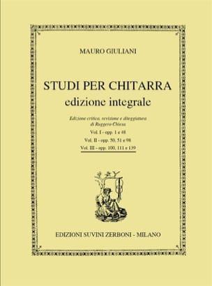 Mauro Giuliani - Studi per Chitarra Vol. 3 - Sheet Music - di-arezzo.com