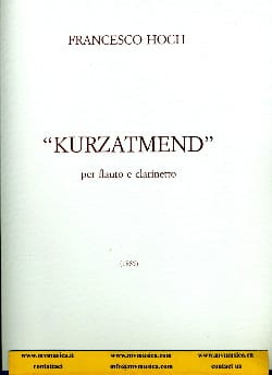 Francesco Hoch - Kurzatmend - Partition - di-arezzo.fr