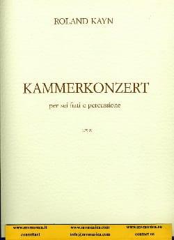 Roland Kayn - Kammerkonzert - Partition - di-arezzo.fr