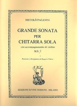 Niccolò Paganini - Grande sonata per chitarra con acc. di violino M.S. 3 - Partition - di-arezzo.fr