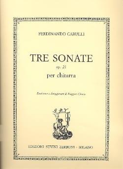 3 Sonate op. 21 -Chitarra - Ferdinando Carulli - laflutedepan.com