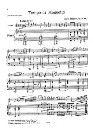Jean Sibelius - Tempo di minuetto op. 79 n° 2 - Partition - di-arezzo.fr