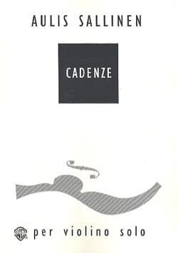 Aulis Sallinen - Cadenze - Sheet Music - di-arezzo.co.uk