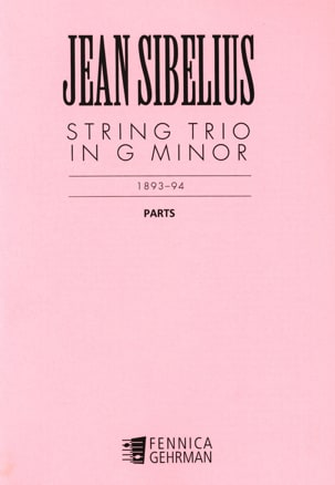 Jean Sibelius - String Trio G minor – Parts - Partition - di-arezzo.fr