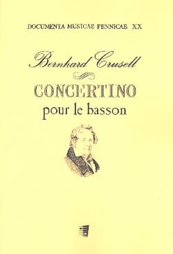 Bernhard Henrik Crusell - Concertino for the bassoon - Sheet Music - di-arezzo.com
