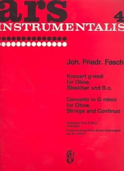 Johann Friedrich Fasch - Konzert g-moll – Oboe Klavier - Partition - di-arezzo.fr