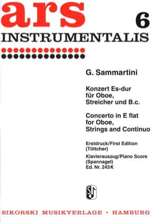 Giuseppe Sammartini - Konzert Es-Dur –Oboe Klavier - Partition - di-arezzo.fr