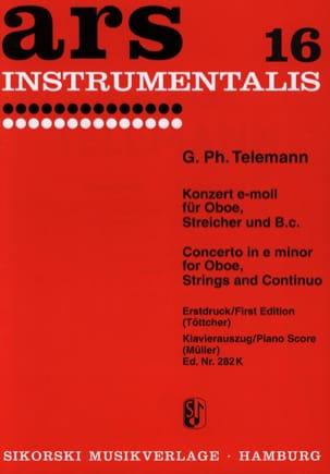 Konzert e-moll - Oboe Klavier TELEMANN Partition laflutedepan