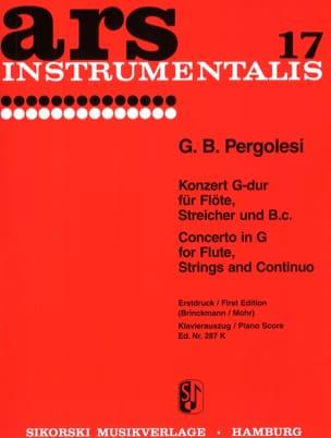 Konzert G-Dur - Flöte Klavier Giovanni Battista Pergolesi laflutedepan