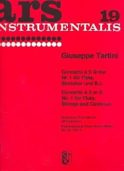 Concerto à 5 G-Dur Nr. 1 -Flöte Klavier TARTINI laflutedepan