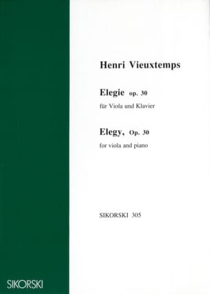 Henri Vieuxtemps - Elegie op. 30 - Sheet Music - di-arezzo.co.uk
