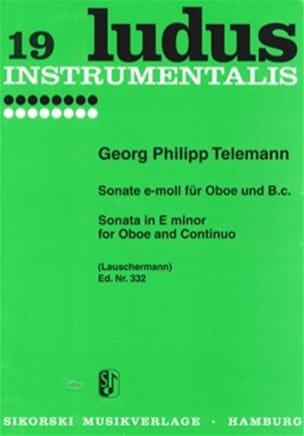 Sonate e-moll für Oboe und Bc TELEMANN Partition laflutedepan