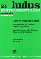 Sonate d-moll -2 Oben Fagott BC Johann Friedrich Fasch laflutedepan