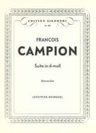 François Campion - Suite for Gitarre - Sheet Music - di-arezzo.co.uk