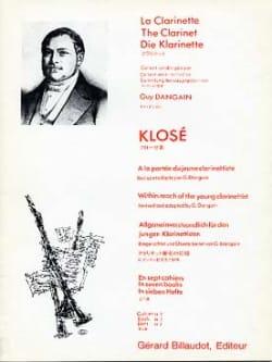 Hyacinthe Klosé - A la portée du jeune clarinettiste Vol. 5 - Partition - di-arezzo.fr
