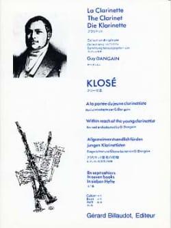 Hyacinthe Klosé - A la portée du jeune clarinettiste Vol. 6 - Partition - di-arezzo.fr