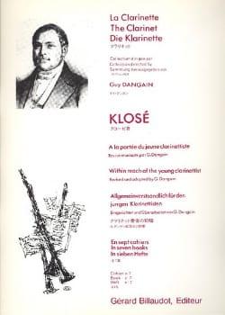 Hyacinthe Klosé - A la portée du jeune clarinettiste Vol. 7 - Partition - di-arezzo.fr