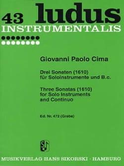 3 Sonaten 1610) -Soloinstrumente und Bc - laflutedepan.com