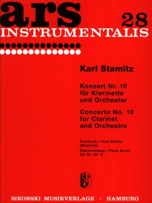 Carl Stamitz - Konzert Nr. 10 B-Dur - Klarinette Klavier - Sheet Music - di-arezzo.com