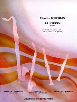 14 Pieces op. 178 Charles Koechlin Partition laflutedepan