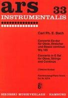 Carl Philipp Emanuel Bach - Konzert Es-Dur (Mib M.) - Hautbois-Piano - Partition - di-arezzo.fr