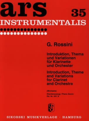 Gioacchino Rossini - Introduktion, Thema und Variationen - Partition - di-arezzo.fr