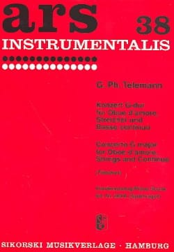 Konzert G-Dur -Oboe d'amore Klavier TELEMANN Partition laflutedepan