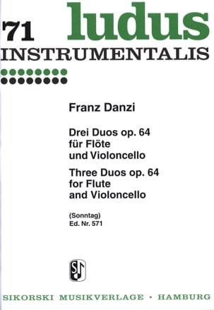 3 Duos op. 64 - Flöte und Violoncello Franz Danzi laflutedepan