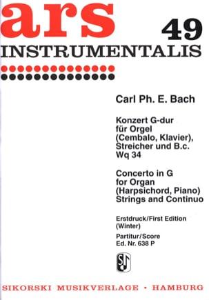 Konzert G-Dur Wq 34– Orgel Streicher Bc - laflutedepan.com