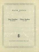 Walter Jentsch - 3 Studien op. 36 for Bratsche - Sheet Music - di-arezzo.co.uk