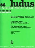 Georg Philipp Telemann - Triosonate G-Dur – Flöte, Violine u. Bc - Partition - di-arezzo.fr