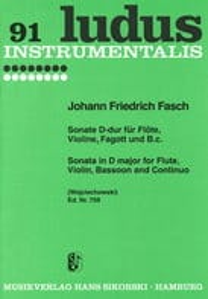 Johann Friedrich Fasch - Sonata D-Dur - flauta de violín Fagott y BC - Partitura - di-arezzo.es