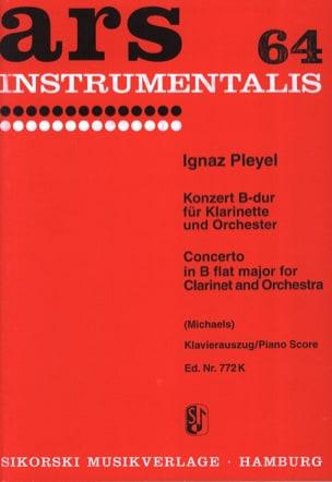Konzert B-Dur - Klarinette Klavier Ignaz Pleyel Partition laflutedepan
