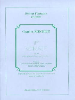 Sonate n° 1 op. 85 pour clarinette en la et piano laflutedepan