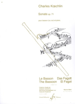Charles Koechlin - Sonata Op. 71 - Partitura - di-arezzo.es